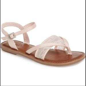 Toms pink lace Lexie sandals